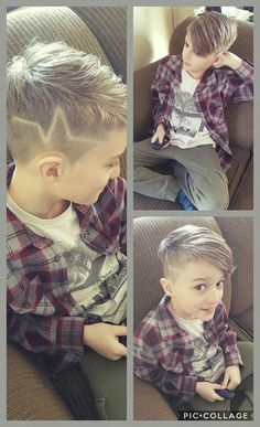 Super cool haircut Biy Haircuts, Trendy Boys Haircuts, Cool Boys Haircuts, Hairstyles Haircuts, Toddler Boy Haircuts, Toddler Hair, Boys Haircuts With Designs, Little Boy Hairstyles, Haircut Designs