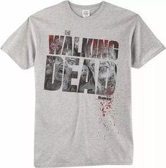 the walking dead logo faces t-shirt