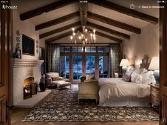 If you are tired of your master bedroom, you can incorporate a few changes that make a big difference. Romantic master bedroom interior design ideas can include updating your wall finishes with a two-. Cozy Bedroom, Dream Bedroom, Bedroom Decor, Bedroom Furniture, Rustic Furniture, Furniture Ideas, Bedroom Ceiling, Bedroom Lighting, Bedroom Colors