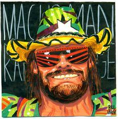 machoman post-it!