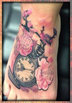 eternal_tattoo_matt_allsman_pocket_watch_cherry_blossom_foot_full_color.jpg (1430×2048)