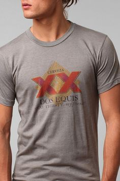 Dos Equis Tee  #UrbanOutfitters - If I had this shirt; my passport would require no photograph, panhandlers would give me money, I'd bowl overhand, and If I were to punch you in the face, you would have to fight off the urge to thank me.