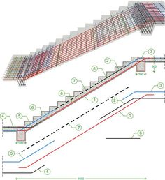 Staircase Information And Details Under Construction - Engineering Discoveries Staircase Landing, Staircase Design, Stairs Architecture, Architecture Details, Structural Drawing, Civil Engineering Construction, Building Stairs, Stair Detail, Concrete Stairs