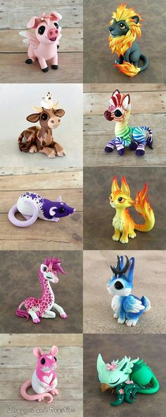 I thought it would be fun to deviate from the dragons a bit and have an all beasties sale for a change. Of course they couldn't just be regular beasties. Beasties Sale MayBeasties Sale May by DragonsAndBeasties - Polymer Clay JournalCool animals & creatur Polymer Clay Kunst, Polymer Clay Figures, Cute Polymer Clay, Polymer Clay Animals, Cute Clay, Fimo Clay, Polymer Clay Projects, Polymer Clay Charms, Polymer Clay Creations