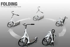 KingFisher portable Footbike provides a stable ride on city roads