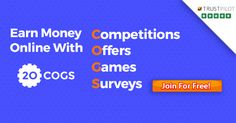 By completing Competitions, Offers, Games & Surveys! Join the 300,000 member community for FREE.
