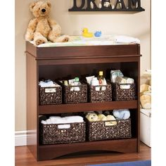 South Shore Peak-a-boo Changing Table in Royal Cherry $108