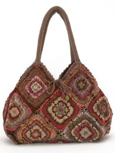 Sophie Digard Vintage Tote in Multi Sophie Digard Vintage Tote in Multi Sophie Digard crochet tote The post Sophie Digard Vintage Tote in Multi appeared first on Fashion Chic. Crochet Shell Stitch, Crochet Handbags, Crochet Purses, Knit Or Crochet, Crochet Stitches, Crochet Bags, Crochet Squares, Sac Granny Square, Granny Squares