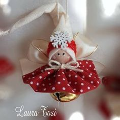 Trillino by Laura Tosi - Salvabrani Diy Christmas Angel Ornaments, Christmas Fairy, Etsy Christmas, Ornament Crafts, Christmas Candles, Christmas Bells, Christmas Projects, Christmas Tree Decorations, Holiday Crafts