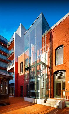 Alhambra glass elevator - acton ostry architects - Glotman Simpson #structural…