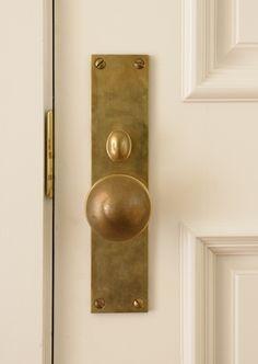 Unlacquered brass knob