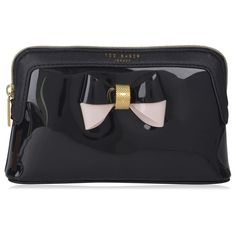 TED BAKER Rossam Makeup Bag ($34) ❤ liked on Polyvore featuring beauty products, beauty accessories, bags & cases, bags, makeup, makeup bags, purse makeup bag, make up bag, cosmetic purse and makeup purse