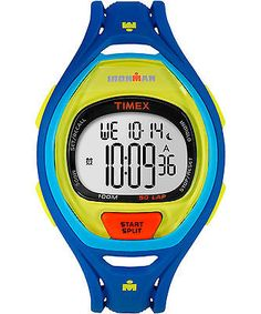 #Timex #watch #ironman tw5m01600 50 lap blue and yellow sport digital indiglo 42m,  View more on the LINK: http://www.zeppy.io/product/gb/2/112161199075/