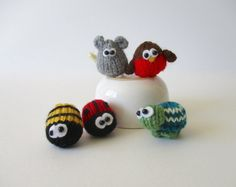 TEENY ANIMALS TOY KNITTING PATTERNS  These little animals are quick to knit, and are a super way to use up odds and ends in your yarn stash. They would make super little toys, or could be added to keychains, brooches, pendants, or even wear them as rings. This knitting pattern includes instructions to make six teeny animals, including: Mini Mouse, Teeny Turtle, Junior Hedgehog, Wee Robin, Bitsy Bee and Little Ladybug.  PLEASE NOTE: This listing is for the knitting patterns only; this is not…