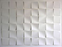 Annet Vroom 110 x 85 cm relief in white paper lacquer 2010 Table Lanterns, Sound Absorbing, Shades Of White, Color Stories, Minimal Design, White Paper, Pure White, Textures Patterns, True Colors