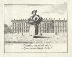 Zimtbrezelverkäuferin auf dem Schlossplatz, 1796 von Johann Carl Wilhelm Rosenberg