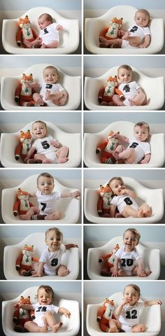 Creative Monthly Baby Photo Ideas for Baby's 1ST Year More
