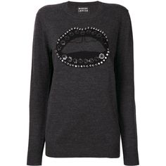 Markus Lupfer Natalie sweater ($535) ❤ liked on Polyvore featuring tops, sweaters, grey, markus lupfer top, gray top, markus lupfer, markus lupfer sweater and gray sweaters