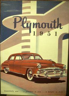 1951 Plymouth Crankbrook Cambridge Concord Dealer Sales Brochure EXPORT DIV