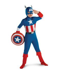 Take a look at this Red & Blue Captain America Dress-Up Set - Kids by Disguise on #zulily today!