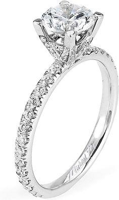 Michael M. Pave Diamond Engagement Ring- since1910.com