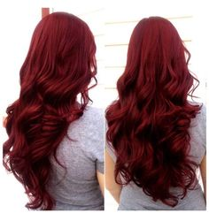 Shades of Red, More Choices to Dye Your Hair Red - Scarlet hair color with long wavy hair style~ nice dark red hair,love it so muchScarlet hair color with long wavy hair style~ nice dark red hair,love it so much Dyed Red Hair, Dark Red Hair Dye, Red Velvet Hair Color, Color Red, Magenta Hair, Shades Of Red Hair, Ombre Hair, Dark Red Hair Burgundy, Deep Red Hair Color