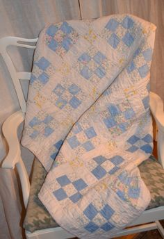 Vintage Baby Quilt by HauteBlooded on Etsy, $52.00
