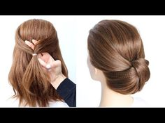 😱 1 Minute EASY UPDO for SHORT HAIR 😱 How to: Easy Christmas Updo  by Another Braid