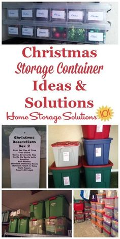 Christmas storage containers can be used to hold holiday decorations, lights, ornaments, garland, and all the other paraphanalia you get out around Christmas time to celebrate the season. Attic Organization, Attic Storage, Organizing Tips, Christmas Storage, Christmas Fun, Holiday Storage, Christmas Lodge, Christmas Hacks, Xmas