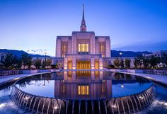 Odgen Lds Temple Sunrise Reflection - Utah by Ultimateplaces on Etsy