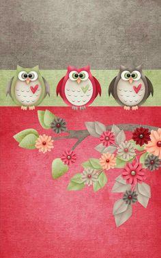 Cute Owls Wallpaper, Bird Wallpaper, Wallpaper Backgrounds, Cellphone Wallpaper, Iphone Wallpaper, Creation Bougie, Owl Background, Pattern Background, Funny Owls