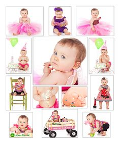 First Birthday/Smash the Cake collage
