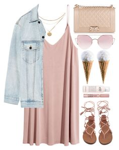 """Ice Cream Day"" by monmondefou ❤ liked on Polyvore featuring Alexander Wang, philosophy, Chanel, LMNT, L'Oréal Paris and Pink"