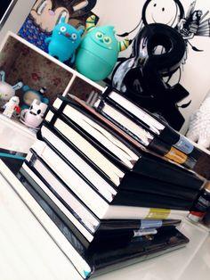 My moleskine journal / notebook tower by Miss Wah