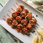 Lemon and spice grilled shrimp