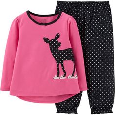 ^^Child of Mine by Carter's Baby Toddler Girl 2-Piece Pajama Set
