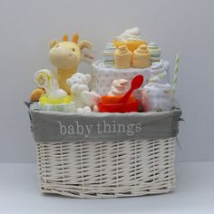 Gender Neutral Baby Gift Basket, Baby Shower Gift, Unique Baby gift