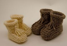 Ravelry: Seamless Garter Tassel Booties pattern by Karen Strauss