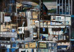 """Hong Kong"" 60x80 acryl/mixed media (Maja Boot)"
