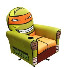 Newco International 70533 Nickelodeon Teenage Mutant Ninja Turtles Icon Michelangelo Gaming Chair - Home Furniture Showroom