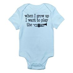 Future Trumpet Player Kids Infant Bodysuit on CafePress.com