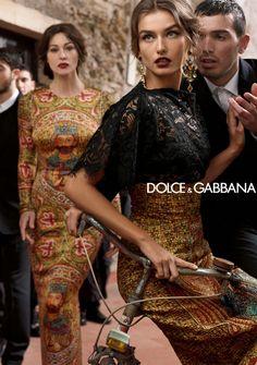 DOLCE & GABBANA WOMEN WINTER 2014 AD CAMPAIGN