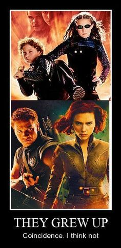 This would actually explain a lot of things. Why they are both redheads. Why Clint cares for her like his sister. I know this is setting up a joke, but c'mon guys, we know their relationship isn't romantic after seeing Age of Ultron. They could be siblings...