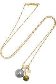 Alice CicoliniKimono 18-karat gold multi-stone necklace
