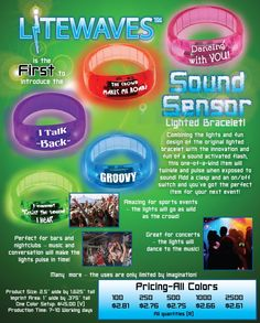 New Sound Activated Lighted Bracelets! #events #branding