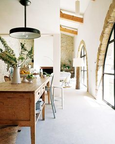 modern design in an old space