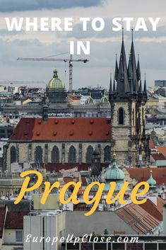Where to stay in Prague | Best Hotels in Prague | From Luxury to Budget Hotels in Prague | Prague Czech Republic | Prague Travel #prague #travel #hotel