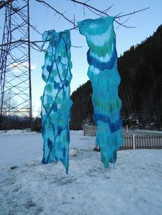 Aqua shawl