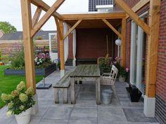 Houten veranda, Tuin met veranda, Terras