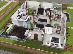 House 5 ground level (back view) #sims #simsfreeplay #simshousedesign
